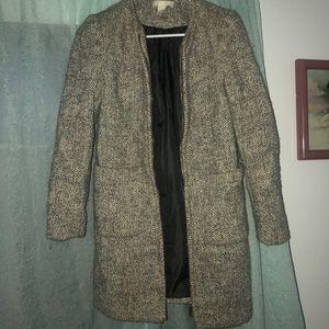 Jackets & Blazers - Gray and Cream , H &M Pea coat